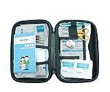 Express Panda Kit de primeros auxilios completo para uso en acampar, pescar, senderismo y viajar Kit de primeros auxilios impermeable (contiene 72 piezas)