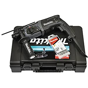 Makita HR2470BX40 Rotationshammer-Bohrer + Bit-Set, 230 Volt, 780 Watt