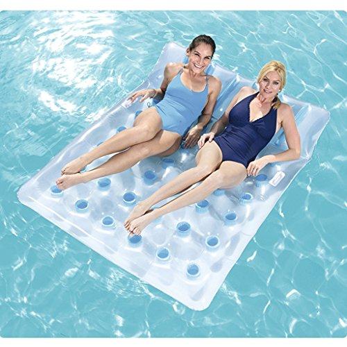 CHENGYI Schwimmendes Bett, Strand-Wasser-aufblasbare Ruhesessel-sich hin- und herbewegende Reihe, Swimmingpool-Floss-aufblasbares Spielzeug-Erwachsener u. Kind-sich hin- und herbewegender Bett-Wasser-Erholungs-Stuhl 193 * 142cm