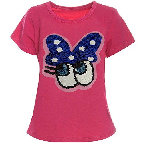 BEZLIT Kinder Mädchen Kurzarm T-Shirt mit Wende Pailletten Sweat