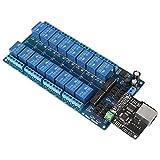1Pz Scheda del Modulo di Controllo del Relè Ethernet di Rete LAN WAN Server di Rete WEB con Interfaccia RJ 45 + Relè di 16 Canali per il Telecomando Smart Home