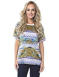 Di Amazon Jeans Abbigliamento Camicia Versace Donna it UwwnpqzEA