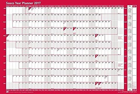 Sasco 2017 Original Year Planner Kit, 915 x 610 mm - Unmounted - Calendario Giorno Planner