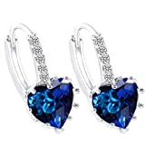 Habors Platinum Plated Blue Brilliant He...