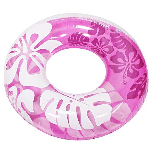 COM-FOUR® Schwimmreifen, Schwimmring im Hawaii-Design in sommerlichen Farben, Ø 89,5cm
