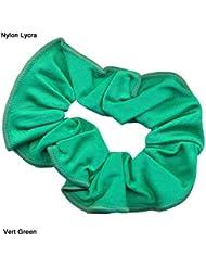 Chouchou pour cheveux en nylon/lycra brillant Vert