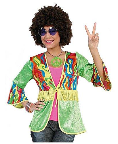 KarnevalsTeufel Hippie Jennie Weste für Damen 70er Jahre Flower-Power-Outfit