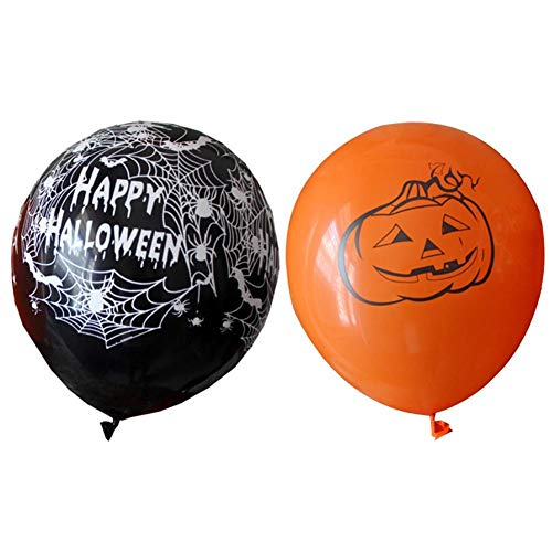 Loveless Land Halloween Luftballons Party Home Decor Kürbis Spinne Dekoration Gedruckt Ballons (Spider+ Pumpkin)