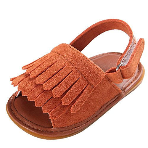 Amcool Baby Schuhe Neugeboren Infant Krippenschuhe Anti-slip Krabbelschuhe Sandalen Braun 1