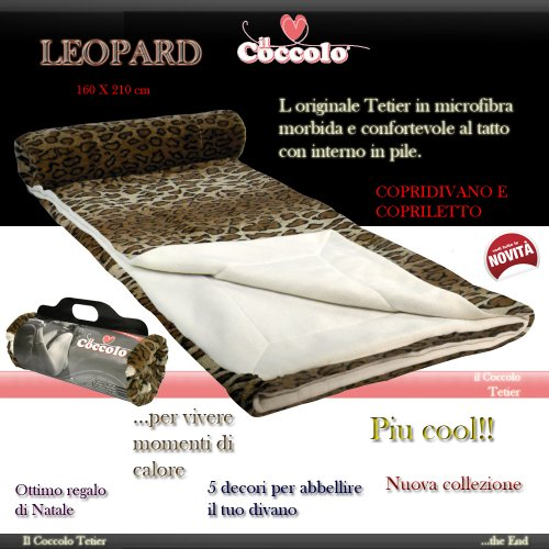 Il Coccolo Plaid.Storepoint Coperta New Coccolo Tetier Leopard Leopardato