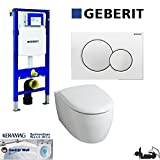 Geberit Duofix UP 320 Vorwandelement mit Sigma01, Keramag ICON, rimfree, Spülrandlos, Tiefspül-WC, inkl. Sitz ,Keratect Beschichtung