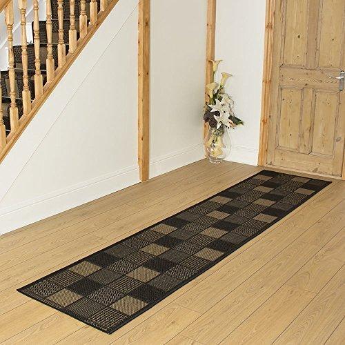 Carpet Runners UK Patch schwarz-Hall, Treppe Teppich Läufer (erhältlich in jede Länge bis 30m), schwarz, L: 3.00m (9ft 10in) x W: 66cm (Ft Läufer Schwarz L 9)