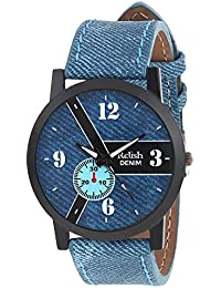 RELISH RE-S8101BD Black Slim Analog Watches For Men's And Boy's
