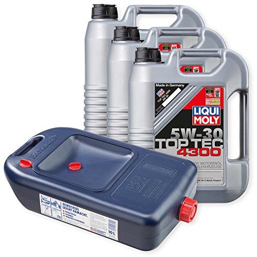 Preisvergleich Produktbild 3x LIQUI MOLY Top Tec 4300 Motoröl 5W-30 5L 3741 + Kanister