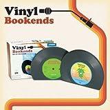 Serre-Livre Forme Vinyle Rétro Nostalgique Vintage DJ 45 Tours Plastique X 2