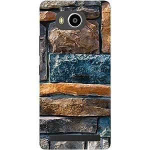 Casotec Decorative Stone Cladding Design 3D Printed Hard Back Case Cover for Lenovo A7700