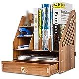 Willesego Bücherregal von Office Desktop Aufbewahrungsbox Schublade Holz Finishing Racks Datei Daten Aufbewahrungsboxen, C (Farbe : A, Größe : -)