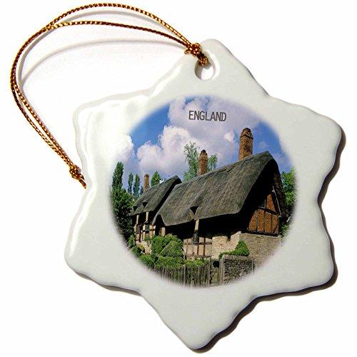 3dRose Flocon de Neige Ornement, Porcelaine, Blanc, 7,6 cm