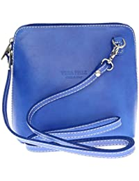 Girly HandBags Genuine Leather Rigid Cross Body Shoulder Bag Real Italian