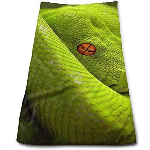 Hipiyoled Cobra Rattle Snake Eyes Python 100% Baumwolle, lichtbeständig, saugfähig, maschinenwaschbar, Hotelqualität, weiches saugfähiges Handtuch