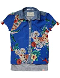 Scotch & Soda R'Belle Mädchen Bluse 13510221400 - 2 in 1 style shortsleeve summer shirt &