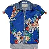 Scotch & Soda R'Belle Mädchen Bluse 13510221400 - 2 in 1 style shortsleeve summer shirt &, Gr. 140 (10), Mehrfarbig (L - dessin L)