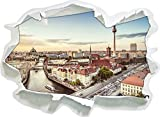 Skyline von Berlin , Papier 3D-Wandsticker Format: 62x45 cm Wanddekoration 3D-Wandaufkleber Wandtattoo