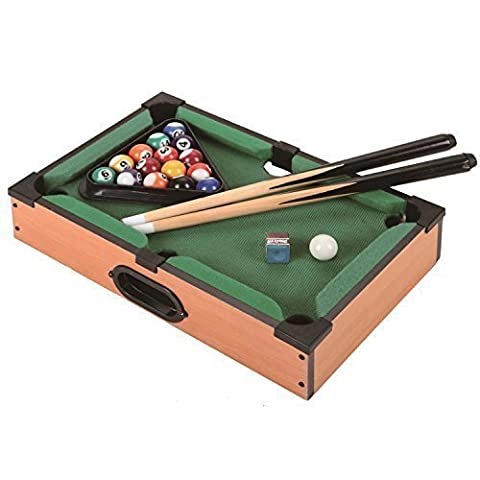 BABY MINI TABLE TOP POOL SET CHILDRENS CUE BALLS TOY