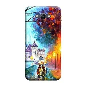 Desicase Samsung A8 Canvas Painting 3D Matte Finishing Printed Designer Hard Back Case Cover (Multicolor)