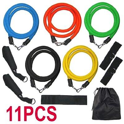 Yahee365 11pcs Widerstand Bänder Set für Fitness Übung Yoga Pilates Training