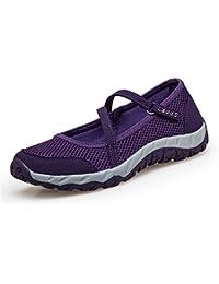 ccd15d19baa3f Ulogu Ballerine Sportive Donna Estive Scarpe da Ginnastica Mary Jane Basse  Sneakers per Fitness Trekking Running