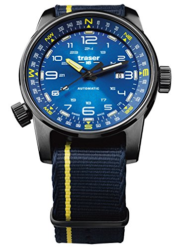 traser H3 Herrenuhr P68 Pathfinder Automatik Blau 107719