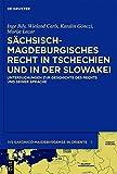 Sächsisch-magdeburgisches Recht in Tschechien und in der Slowakei: Untersuchungen zur Geschichte des Rechts und seiner Sprache (Ius saxonico-maideburgense in Oriente, Band 5) -