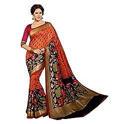 Jay Varudi Creation Women's Multi-Coloured Cottan Silk Partywear Sarees For Women (SB08_Multi-Coloured_FreeSize)