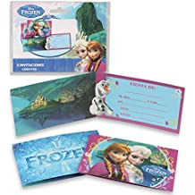 ALMACENESADAN 68371, Pack 6 Invitaciones Dinsey Frozen, sin Sobre. Invitaciones para Fiestas y cumpleaños