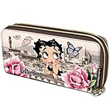 Billetero Largo Betty Boop 2Cremalleras 20x10.5x4cm.
