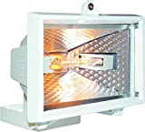 Smartwares HL120W Halogenstrahler, 120 Watt aus Aluguß, weiß