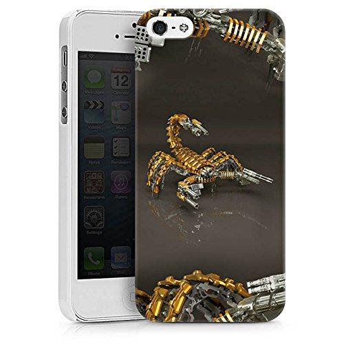 Apple iPhone X Silikon Hülle Case Schutzhülle Skorpion Gold Scorpion Hard Case weiß