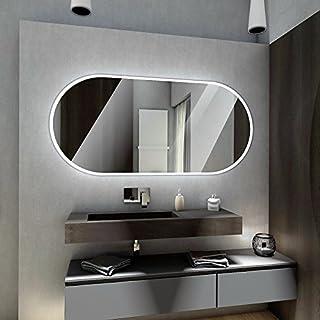 Badspiegel mit LED Beleuchtung von Spiegel-Magic | Wandspiegel Badezimmerspiegel | B x H: 180 cm x 70 cm | Dubai Design