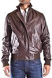Trussardi Herren Mcbi299082o Braun Leder Jacke