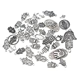 Souarts 1 Set Antik Silber Farbe Fatima Hand Schmuckzubehör Basteln Charms Anhänger Für Halskette Armband 20St