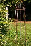Rankgerüst Roheisen / Rost Obelisk Rosenhilfe H: 120cm Rankhilfe