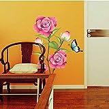 Hechgobuy Begrüßung Wall Sticker Wandtattoos Home pink Piercing Schmetterling Wand Mi-Yeong 50 * 70 cm