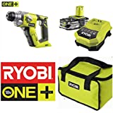RYOBI 18V SDS   HAMMER DRILL COMPLETE KIT WITH LITHIUM BATTERY & 45 MINUTE CHARGER IN RYOBI TOOL BAG (1  SYSTEM)