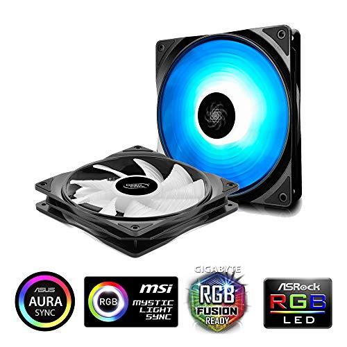 DEEPCOOL RF140 RGB LED-PWM-Lüfter,Gehäuselüfter 140 mm, 12V 4pin, RGB Sync(2P set)
