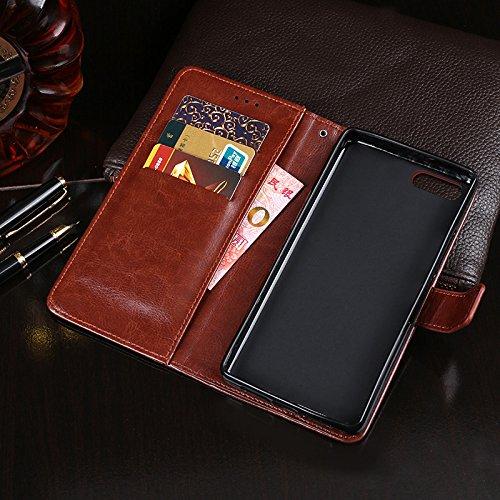 Homtom S9 Plus Funda Faux Cuero Billetera Funda para Homtom S9 Plus con Stand Funci  n Rosa roja