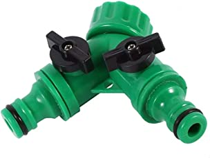Jagan hardware Exclusive Y-Type Two Way Connector 3/4 Inch Female Inlet Connect and 16mm Male Outlet