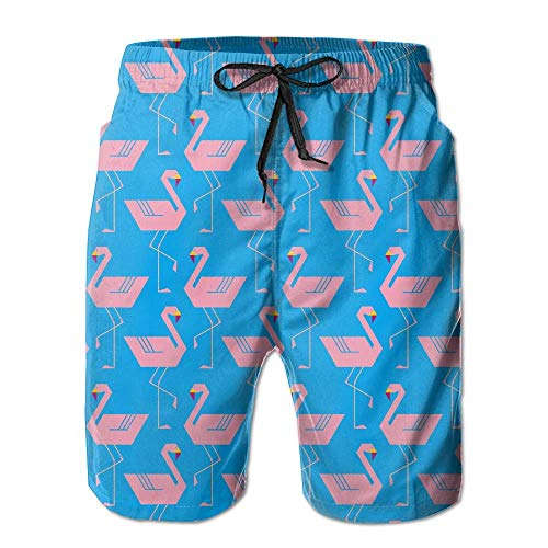 Pro-sun-pearl (Pillowcase shop ZR-Go Men's Pink Flamingos Quick-Dry Summer Beach Surfing Board Shorts Swim Trunks Cargo Shorts Small)
