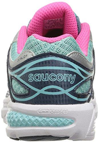 Saucony Zealot 2 Running Shoe (Little Kid/Big Kid) Navy/Turquoise