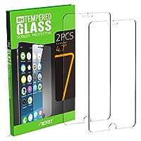 iPhone 7 proteggi schermo, Aerb [2 pack] 9H Scratch Durezza Crystal Clear Premium vetro temperato Screen Protector prova per Apple Iphone 7Questa protezione in vetro temperato è realizzato in vetro temperato 9H sottile. E 'progettato per prot...